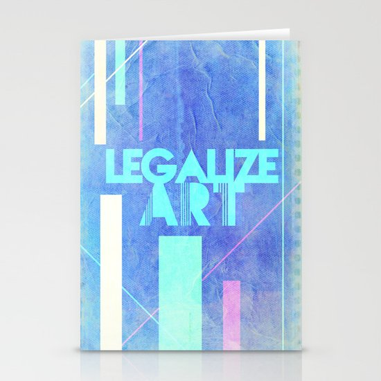 Legalize Art. Stationery Card