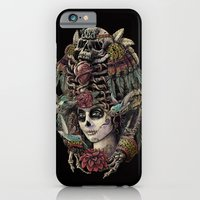 iPhone & iPod Case featuring Day of the Dead (Ancient Guardians) by Jorge Garza