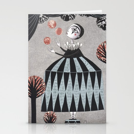 The Juggler's Hour Stationery Card