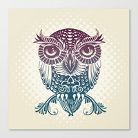 Baby Egyptian Owl Canvas Print