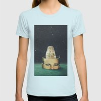 The Odyssey Womens Fitted Tee Light Blue SMALL