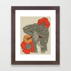The Elephant Framed Art Print