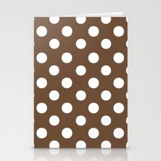 Polka Dots (White/Coffee) Stationery Cards