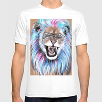Angry Mens Fitted Tee White SMALL