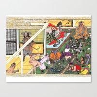 Bizarro Au Go-Go Ukiyoe … Canvas Print