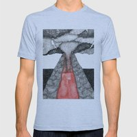 robot volcano Mens Fitted Tee Athletic Blue SMALL