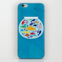 Big fish, little bowl.  iPhone & iPod Skin
