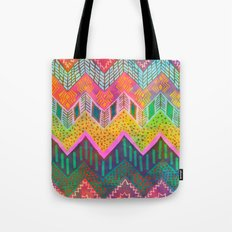 Tribal Chevron - Yellow Tote Bag