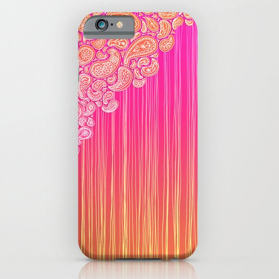 The Unraveling of Paisley Lace (in ombre pink and gold) iPhone & iPod Case