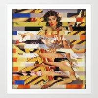 Glitch Pin-Up Redux: Van… Art Print