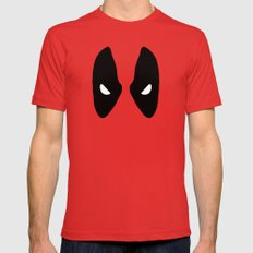 Deadpool Mask Mens Fitted Tee Red SMALL