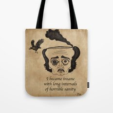 Poe insane Tote Bag
