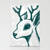 sketchy deer Stationery Cards