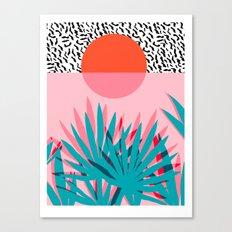 Whoa - Palm Sunrise Sout… Canvas Print