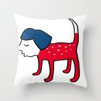 Dog-girl Throw Pillow