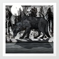 Black Shuck Art Print