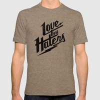 Love Thy Haters - Black Mens Fitted Tee Tri-Coffee SMALL