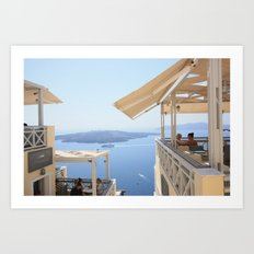 Idyllic afternoon in Fira Art Print