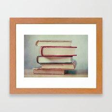 Books Love Framed Art Print