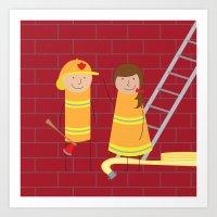 Firefighters Art Print