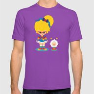 Rainbow Brite  Mens Fitted Tee Ultraviolet SMALL
