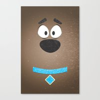 Minimal Scooby Canvas Print