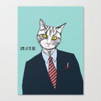 Cat Daddy Canvas Print