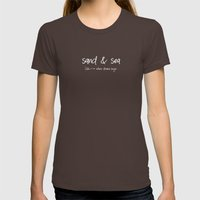 sand and sea Womens Fitted Tee Brown SMALL