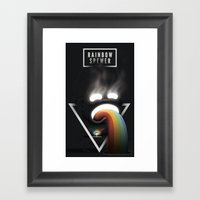 Rainbow Spewer Framed Art Print