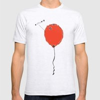 Awkward Balloon Mens Fitted Tee Ash Grey SMALL