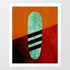 Mint Longboard Art Print
