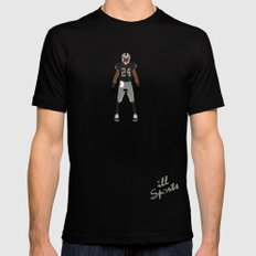 Silver and Black - Charles Woodson Mens Fitted Tee Black SMALL
