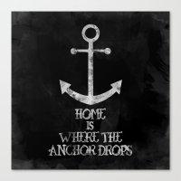 Where The Anchor Drops (… Canvas Print