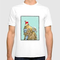 Winged Gorilla Mens Fitted Tee White SMALL