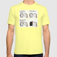 Books Mens Fitted Tee Lemon SMALL