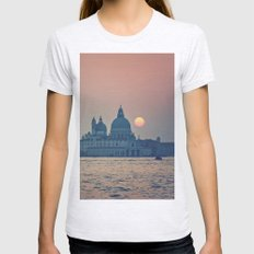 sunset at Venice under construction Womens Fitted Tee Ash Grey SMALL