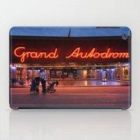 Night shot at Prater amusement park, Vienna iPad Case