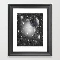 Space Pixels Framed Art Print