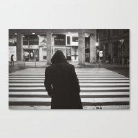 black hood Canvas Print