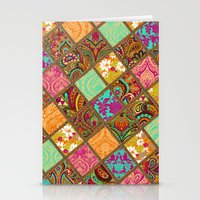 Patchwork Paisley Stationery Cards