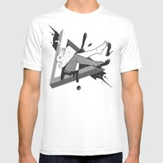 Lady Bunny SMALL Mens Fitted Tee White