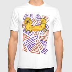 CatDog Mens Fitted Tee White SMALL