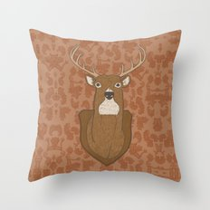 Regal Stag Throw Pillow