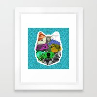 wolf collage Framed Art Print