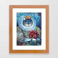 Qween Cat - Tudor Cat Framed Art Print