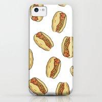 iPhone Cases featuring Happy Hotdog by hannahhillam