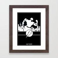 Flash Silhouette Black & White Framed Art Print