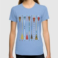 Vintage Arrows Womens Fitted Tee Tri-Blue SMALL