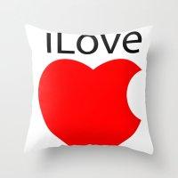 ILove Throw Pillow