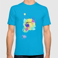 iPaint Mens Fitted Tee Teal SMALL